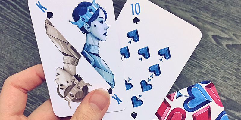 Playing cards, illustrated by Zoe Lovatt